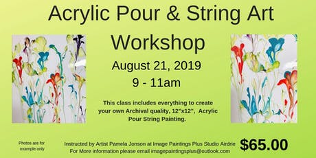 Acrylic Pour and String Art Workshop tickets