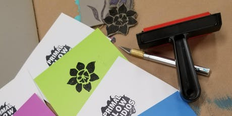 Linocut Printmaking Greeting Card Class tickets
