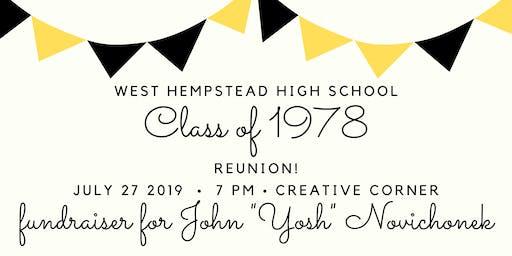 WHHS Class of '78 Reunion & Fundraiser for Yosh Novichonek