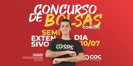 Concurso de Bolsa de Estudos CONCOC do Curso SEMIEXTENSIVO - Pré-Vestibular ingressos