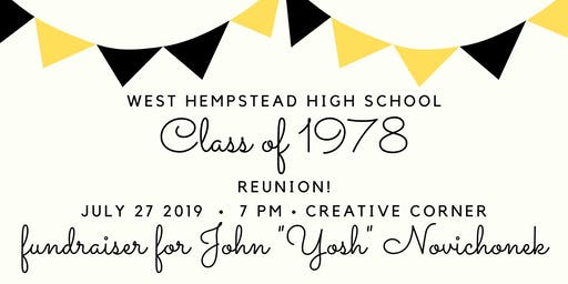 WHHS Class of '78 Reunion & Fundraiser for Yosh!