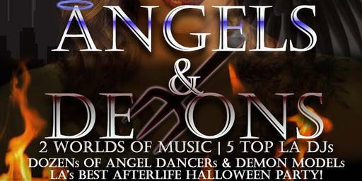 Angels & Demons - Halloween Friday Night W Hollywood Rooftop