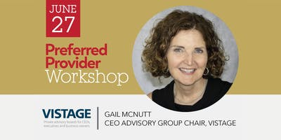 Preferred Provider Workshop with Gail McNutt