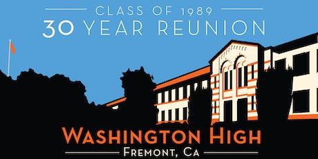 Washington High School -- Class of '89 Thirty Year Reunion tickets