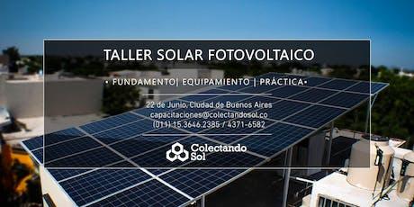 Taller Solar Fotovoltaico CABA //Junio 2019 entradas
