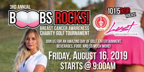 3RD Annual BOOBS ROCKS Breast Cancer Awareness Charity Golf Tournament tickets