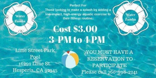 RODF - Aqua Zumba Class - Must be with a Parent or Caregiver