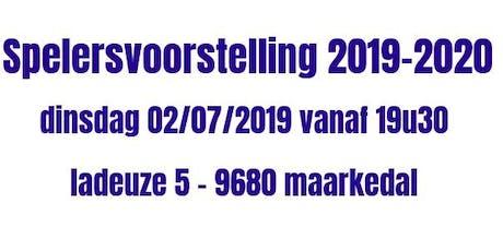 KVVV Ardennen : spelersvoorstelling seizoen 2019-2020 tickets
