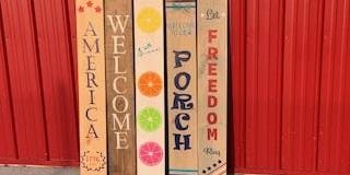 Reversible Porch Sign painting class