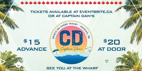 Canada Day Beach Party at Captain Dans tickets