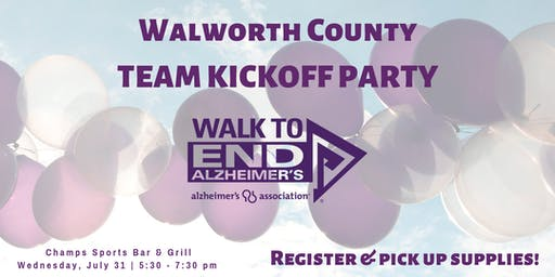 Walworth Walk to End Alzheimer's Kick Off