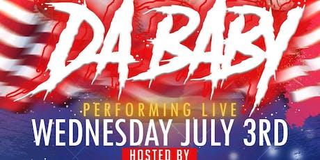 Da Baby Performing Live @ Onyx Sportsbar Wednesday July 3rd tickets