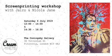Screenprinting workshop with Jairo & Nicola Jane tickets