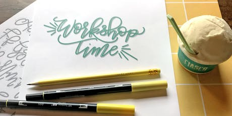 COOL CALLIGRAPHY - Intro to Modern Hand Lettering + Fiasco Gelato tickets