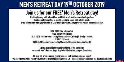 Men's Retreat Day - Salvation Army, Stapleford