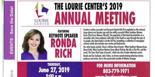 Bestselling Author to Speak at Lourie Center's Annual Meeting
