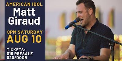 American Idol Matt Giraud