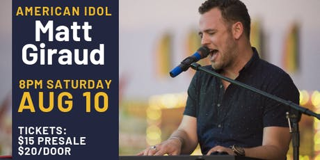 American Idol Matt Giraud tickets