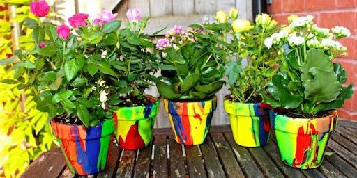 Flower Pot Pour Painting
