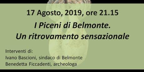 I Piceni di Belmonte. Un ritrovamento sensazionale biglietti