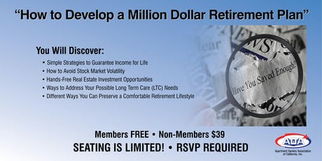 How to Develop a Million Dollar Retirement Plan tickets