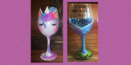 Unicorns and Mermaids-Wine Glass Paint Night tickets