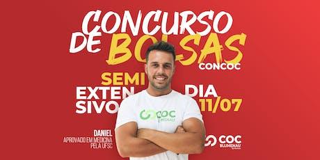 CONCURSO DE BOLSA DE ESTUDOS | CONCOC do Curso SEMIEXTENSIVO - Pré-Vestibular ingressos