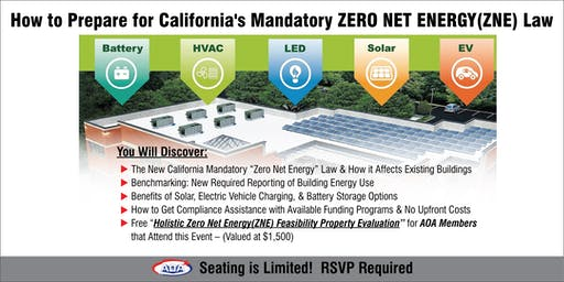 How to Prepare for California's Mandatory ZERO NET ENERGY (ZNE) Law (SC)