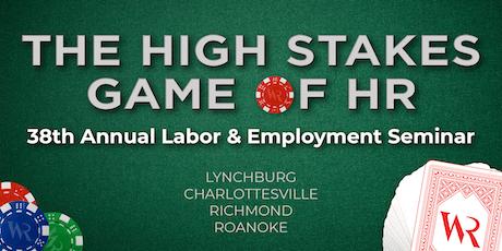 Woods Rogers 2019 Labor & Employment Seminar (Richmond) tickets