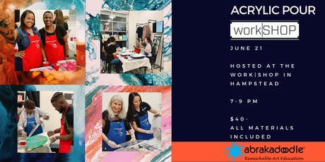 Acrylic Pour work|SHOP with Abrakadoodle tickets