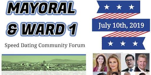 Speed Dating Community Forum - Mayor & Ward 1