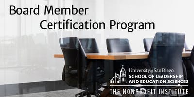Board Member Certification Program at The Nonprofit Institute