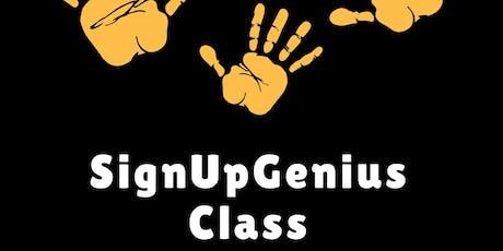 SignUpGenius Class (bilingual) tickets