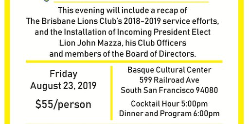 Brisbane Lions Club Officer 2019 Installation Dinner