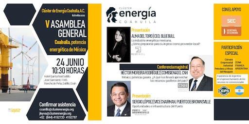 V Asamblea General del Clúster de Energía Coahuila