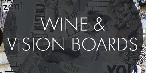 Guided Vision Board Creation with Wine