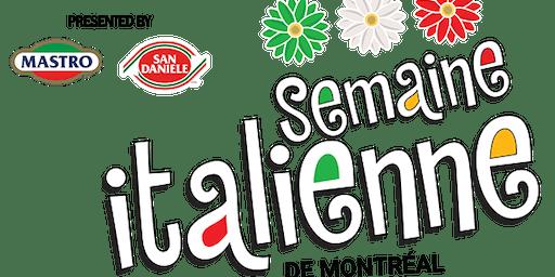 Semaine italienne de Montréal 2019 - Montreal's Italian Week 2019