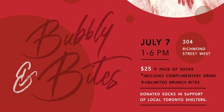 Bubbly & Bites (Sock Drive) tickets