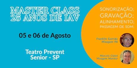 MasterClass - IAV 25 Anos ingressos