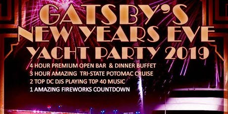 Gatsby's DC Fireworks New Year's Eve Yacht Party 2020 tickets