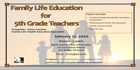 Family Life Education for 5th Grade Teachers tickets