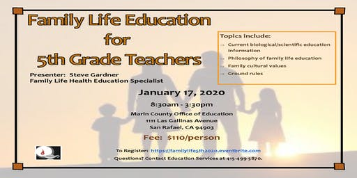 Family Life Education for 5th Grade Teachers