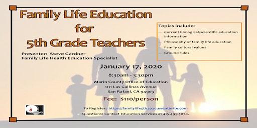Family Life Education for 5th Grade Teachers