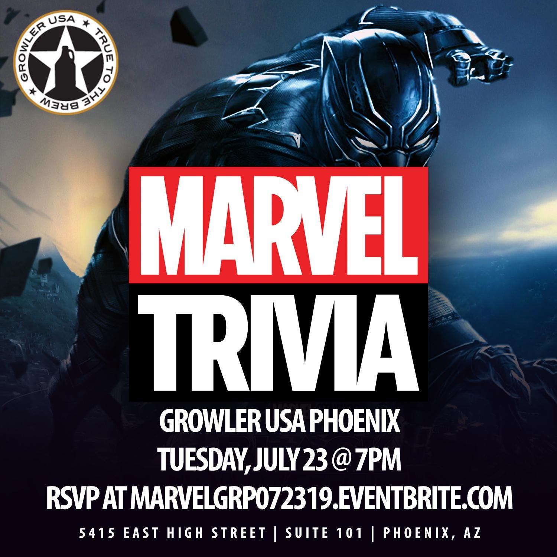 Marvel Cinematic Universe Trivia at Growler USA Phoenix