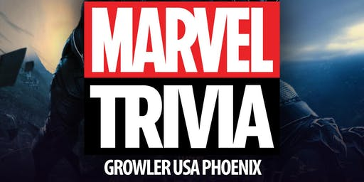 Marvel Cinematic Universe Trivia at Growler USA Phoenix