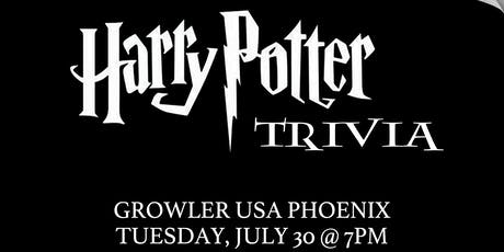 Harry Potter (Book) Trivia at Growler USA Phoenix tickets