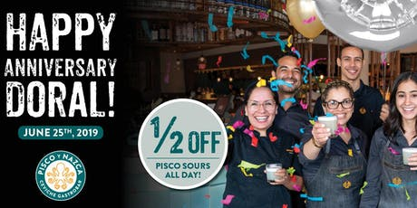 3-Year Anniversary Party at Pisco y Nazca Doral! tickets