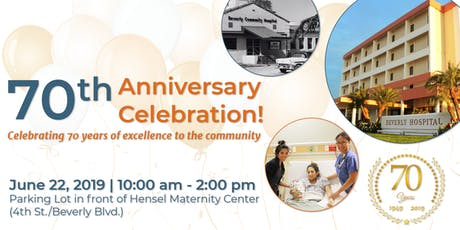 70th Anniversary Celebration! | Beverly Hospital tickets