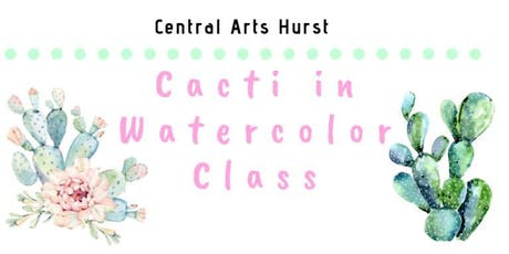 Cacti in Watercolors Class tickets