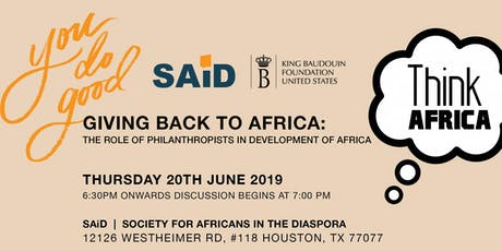 THINK AFRICA SERIES at SAiD! Promoting Civic Engagement Through Dialogue. tickets